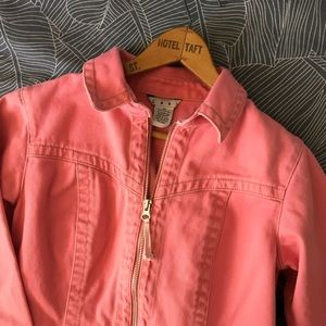 Cabi Pink Denim zip front jacket